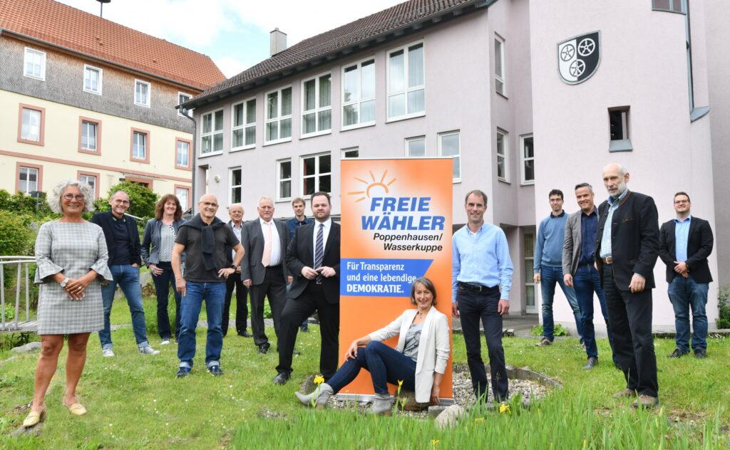 Mitglieder und Gäste Freie Wähler Poppenhausen