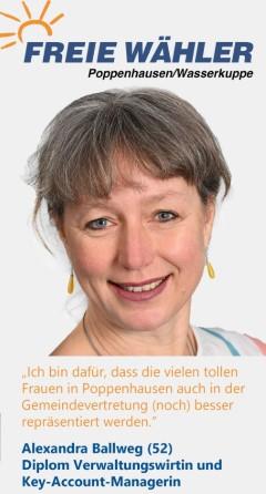 Listenkandidatin Alexandra Ballweg