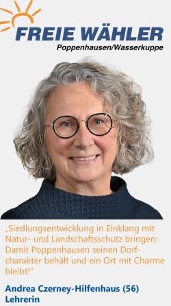Listenkandidatin Andrea Czerney-Hilfenhaus
