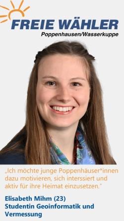 Listenkandidatin Elisabeth Mihm