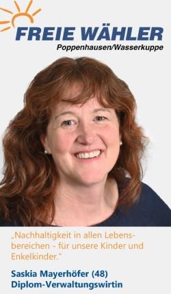 Listenkandidatin Saskia Mayerhöfer
