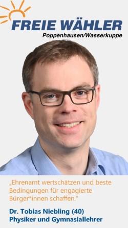 Listenkandidat Tobias Niebling