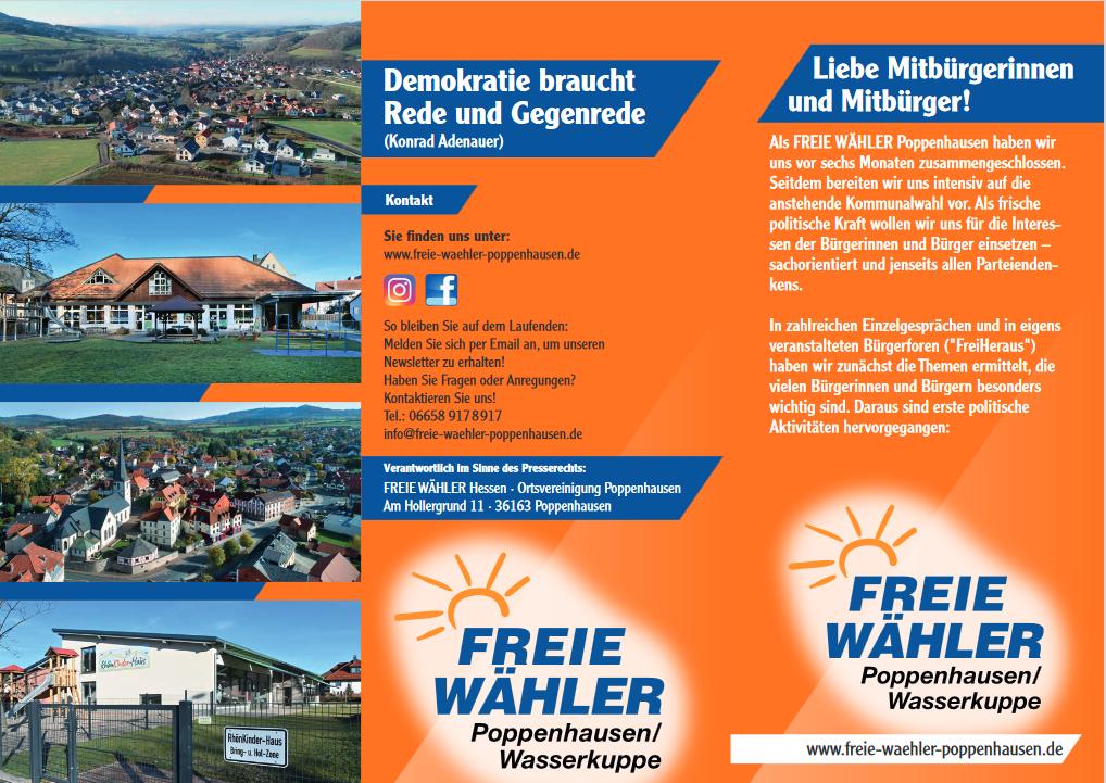 Zweiter Flyer Freie Wähler Seite 1